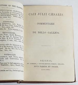 Caii Julii Caesaris - Commentarii de Bello Gallico: Caesar, Julius]