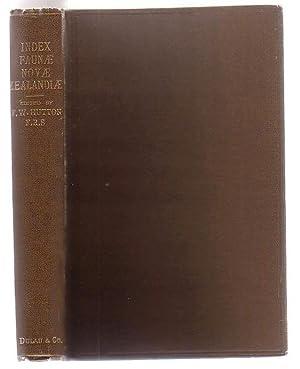 Index Faunae Novae Zealandiae: Hutton, Captain F. W. (ed.)