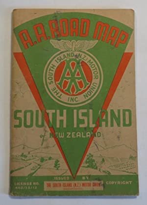 A.A. Road Map - South Island of: The South Island
