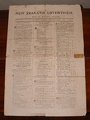 The New Zealand Advertiser, and Bay of Islands Gazette. Vol. I. No. XV, and No. XVI (Supplement).