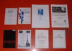 Collection of Eight Programmes: City of Dunedin Choir