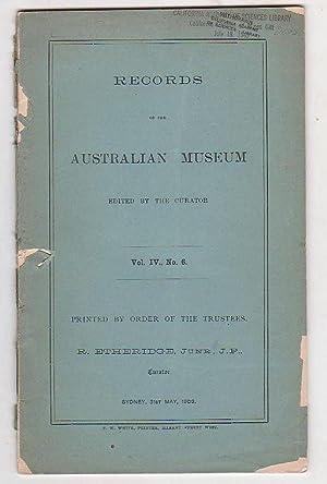 Records of the Australian Museum. Vol. IV, No. 6.: Etheridge, R.