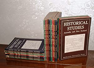 Historical Studies Australia and New Zealand [A run of 18 issues, from Volume One, Number One to ...