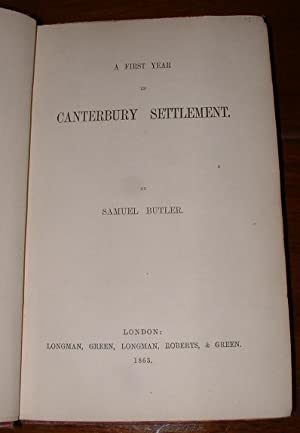 A First Year in Canterbury Settlement: Butler, Samuel