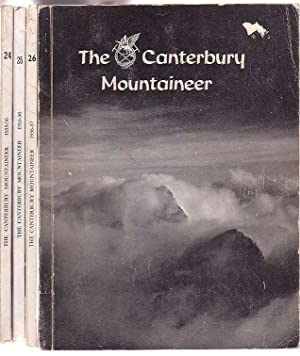 The Canterbury Mountaineer: Journal of the Canterbury Mountaineering Club. 4 issues, Nos. 24, 25, ...