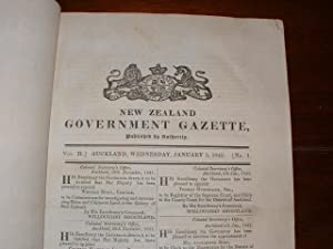 New Zealand Government Gazette. Vol. II, Nos. 1-53. [Complete volume for the year 1842]: New ...
