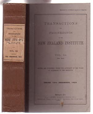 Transactions and Proceedings of the New Zealand Institute. Vol. 54 (New Issue): New Zealand ...