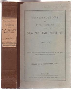 Transactions and Proceedings of the New Zealand Institute. Vol. 55 (New Issue): New Zealand ...