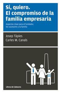 SI, QUIERO. EL COMPROMISO DE LA FAMILIA: Josep Tàpies, Carles