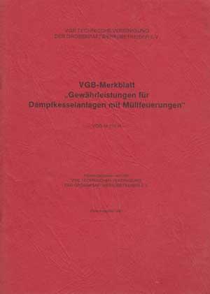 gewährleistungen für dampfkesselanlagen von vgb - ZVAB