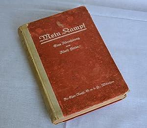 Mein kampf, first edition 1925: Hitler. Adolf