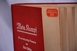 Mein kampf, first edition in two volumes: Adolf Hitler