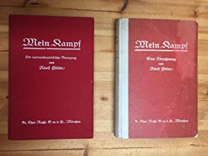 Mein Kampf, first edition 1925 and 1927: Adolf Hitler