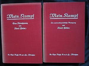 Mein kampf, first edition 1926 & 1927: Adolf Hitler