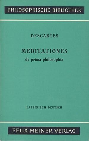 Meditationes de prima philosophia. Meditationen über die: Descartes, Rene