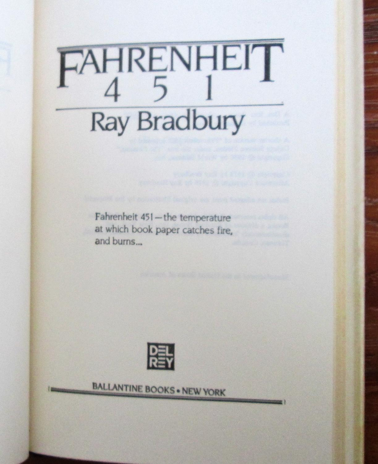Fahrenheit 451 By Ray Bradbury: Very Good Hardcover (1979