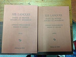Les langues dans le monde ancien et