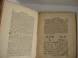 MASSEKET TAMID [in Hebrew] SEU TRACTATUS TALMUDICUS DE Cultu Quotidiano Templi.: Iken, Conrad