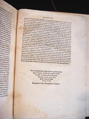 LIBRI QUATUOR: Primus de Vita Activa & De Summo Bono. Tertius & Quartus in Publii Vergilii ...