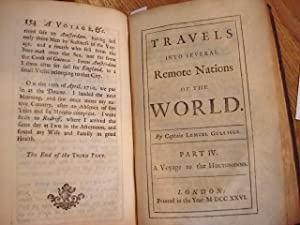 TRAVELS INTO SEVERAL REMOTE NATIONS OF THE WORLD. By Captain Lemuel Gulliver. Vol. II. [Only]: ...