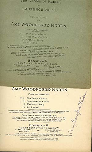 """FOUR INDIAN LOVE LYRICS from """"The Garden: Woodforde-Finden, Amy 1860-1919."""