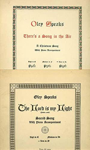 Tenor (Low Voice) Offering of 2: There's: Speaks, Oley 1876-1948.