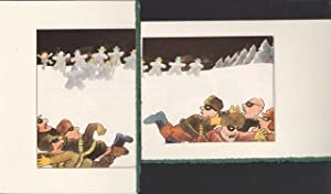 Six blank note cards of three Christmas enoch cartoons appearing in the Illustrated London News C...