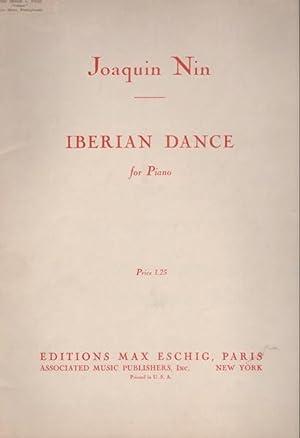 IBERIAN DANCE for Piano (Danza Iberica) .: Nin, Joaquin 1879-1949.