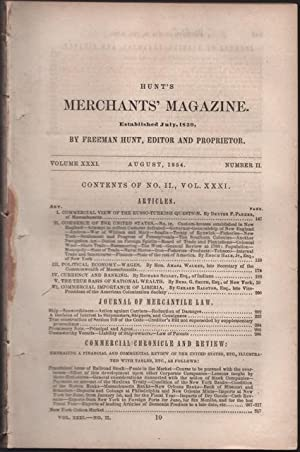 Hunt's Merchants' Magazine. Volume XXXI, No. 2. August 1854