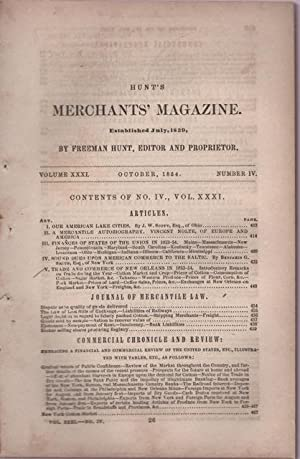 Hunt's Merchants' Magazine. Volume XXXI, No. 4. October 1854