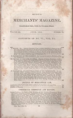 Hunt's Merchants' Magazine. Volume XL, No. 6. October 1859