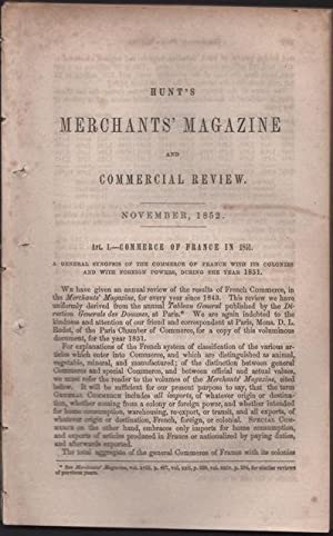 Hunt's Merchants' Magazine and Commercial Review. Volume XXVII, No.5 November 1852