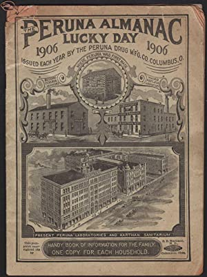 PERUNA ALMANAC LUCKY DAY 1906. Handy Book of Information for the Family. One Copy for Each Househ...