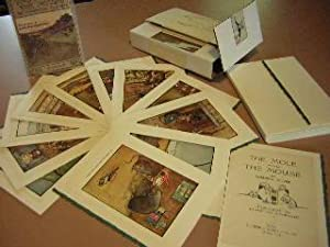 Mole and The Mouse plates made into 11 Blank Cards & Envelopes, Topboard, and Yapped Bound Story ...