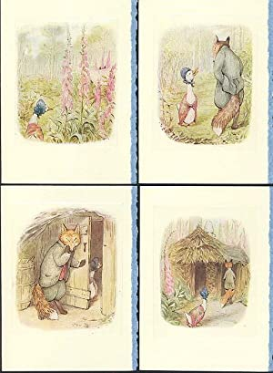 TALE OF JEMIMA PUDDLE-DUCK plates made into 4-blank note cards, The.