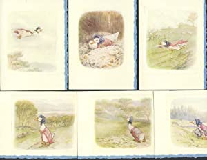 TALE OF JEMIMA PUDDLE-DUCK plates made into 6-blank note cards (all ducks, The.