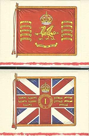 King's Colour of a Guards Battalion (1st Battalion Welsh Guards) and King's Colour of a Line Batt...