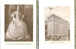 Days and Ways in Old Boston plates made into 2-blank note cards: Bridal Gown worn by Miss Elizabe...
