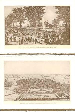 Days and Ways in Old Boston plates made into 2-blank note cards: Celebration on the Common of the...