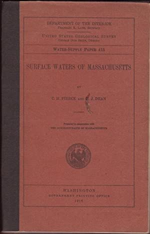 SURFACE WATERS OF MASSACHUSETTS. Prepared in cooperation with The Commonwealth of Massachusetts. ...