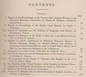 Annual Report of the American Historical Association for the Year 1907, Volume I Only. Francisco ...