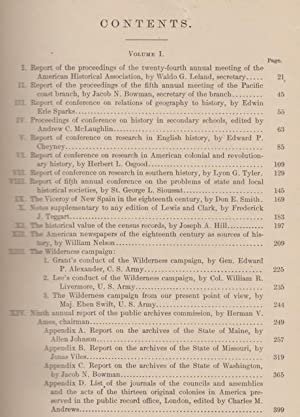 Annual Report of the American Historical Association for the Year 1908, Volume I Only.