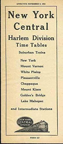 NEW YORK CENTRAL Harlem Division Time Tables,: NYCS.