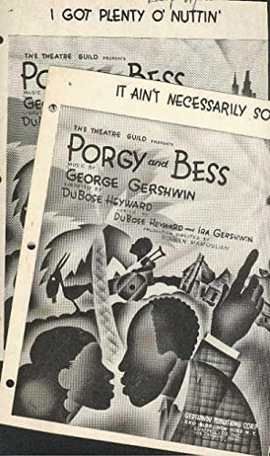 It Ain't Necessarily So (and) I Got Plenty O' Nuttin'. PORGY AND BESS singles from The Theatre Gu...