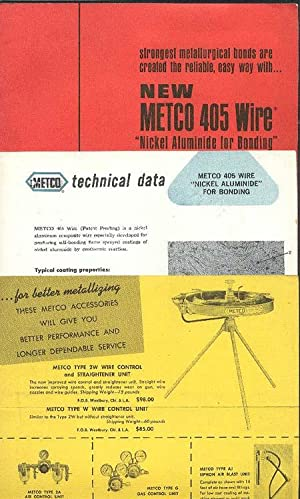 New Metco 406 Wire (AND) Technical Data: METCO.