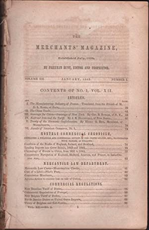 Hunt's Merchants' Magazine. Volume XII, No. 1 January 1845