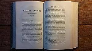 Edition pré-originale de Madame Bovary: Flaubert Gustave