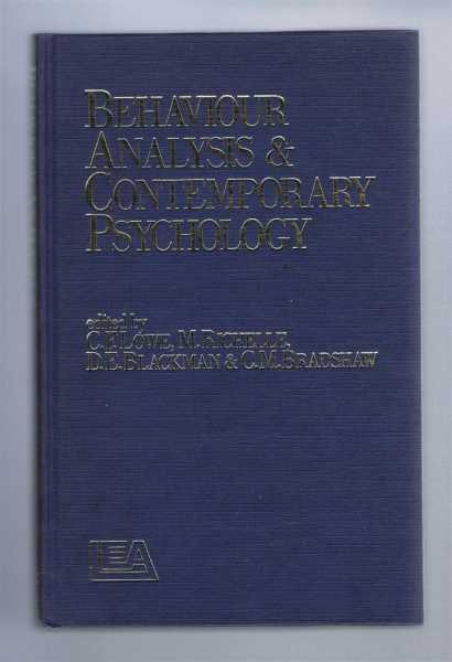 behaviour analysis and contemporary psychology lowe cf richelle m blackman