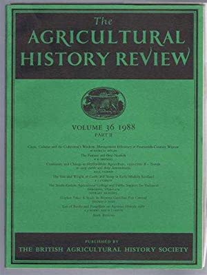 The Agricultural History Review, Volume 36 1988, Part II:
