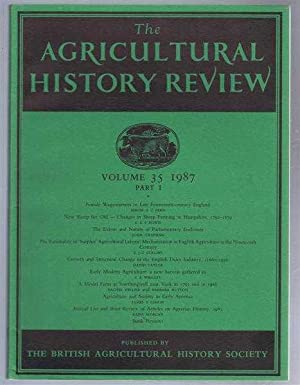 The Agricultural History Review volume 35 1987: edited by J